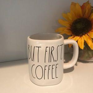 Rae Dunn but first coffee mug